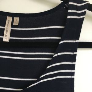 Banana Rep Navy/White Striped Tank - NWOT